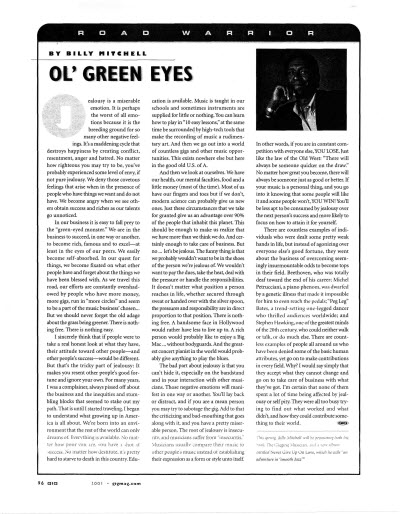 Gig Magazine - Ol Green Eyes