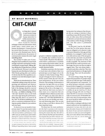 Gig Magazine - chit-chit